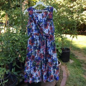 Eddie Bauer summer dress sleeveless cotton V-neck